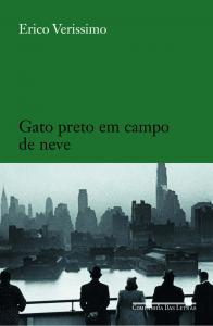 Gato Preto Em Campo De Neve